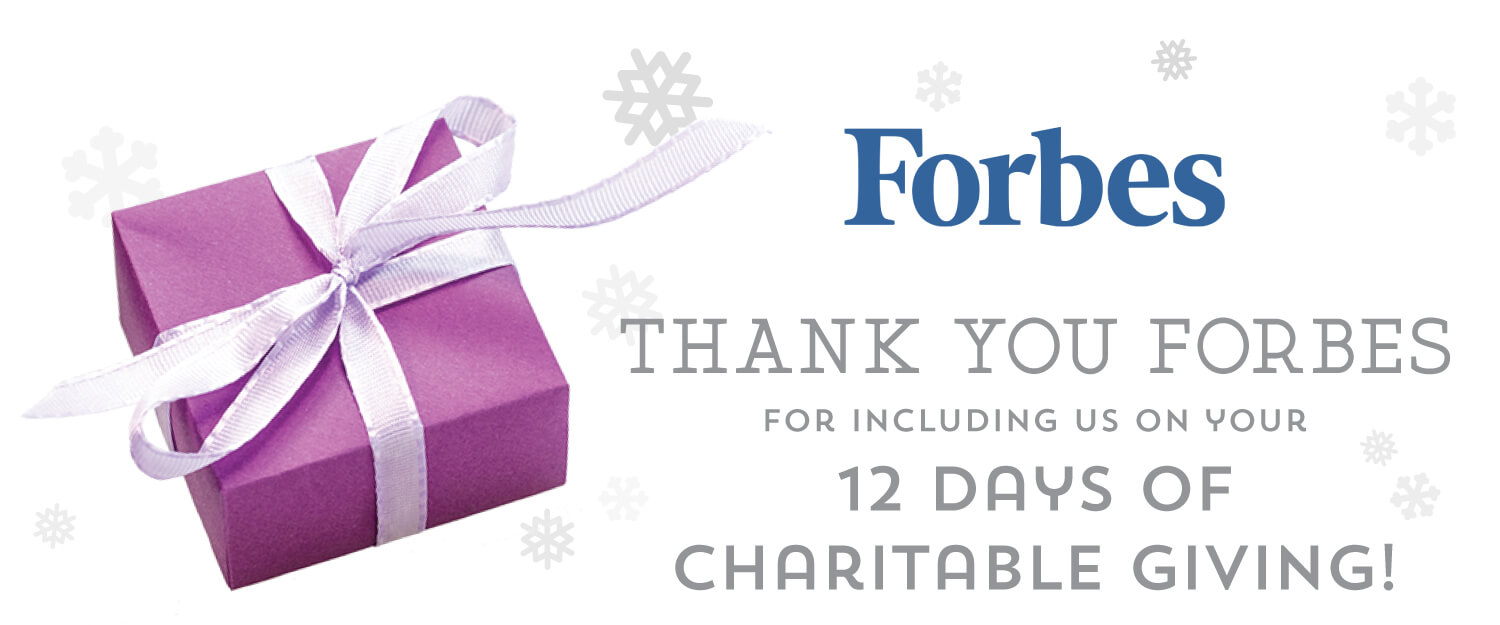 Forbes Magazine 12 days of charitable giving